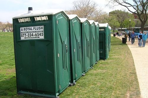 Portable Restrooms, Toilet Trailers For Rent | A Royal Flush
