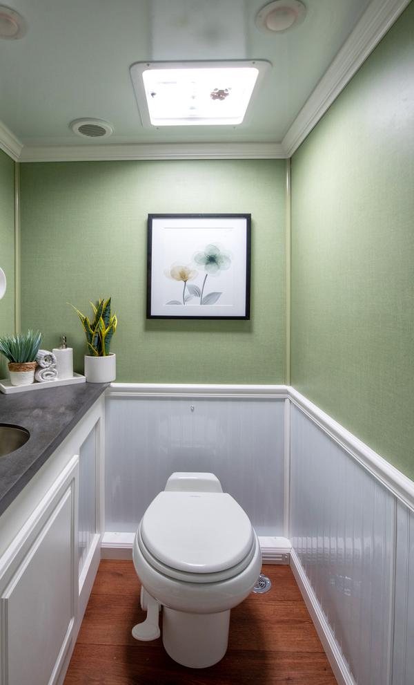 a royal flush restroom trailer interior