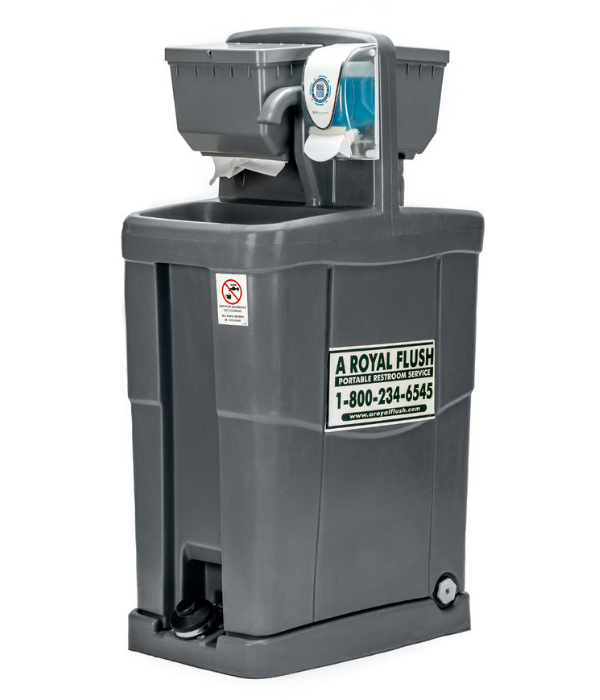A Royal Flush portable hand wash station rentals